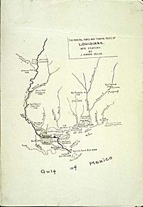 Map of !8th Century Louisiana Trading posts