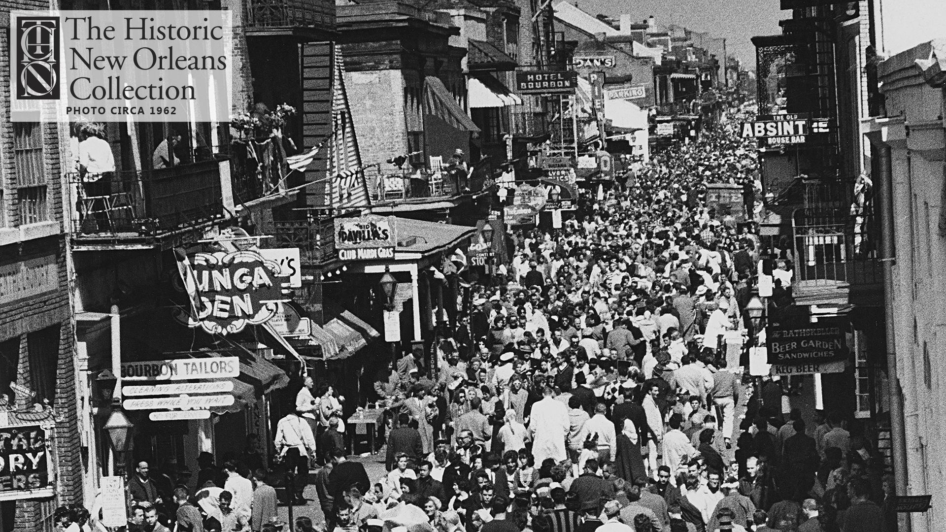 Bourbon Street crowd scene