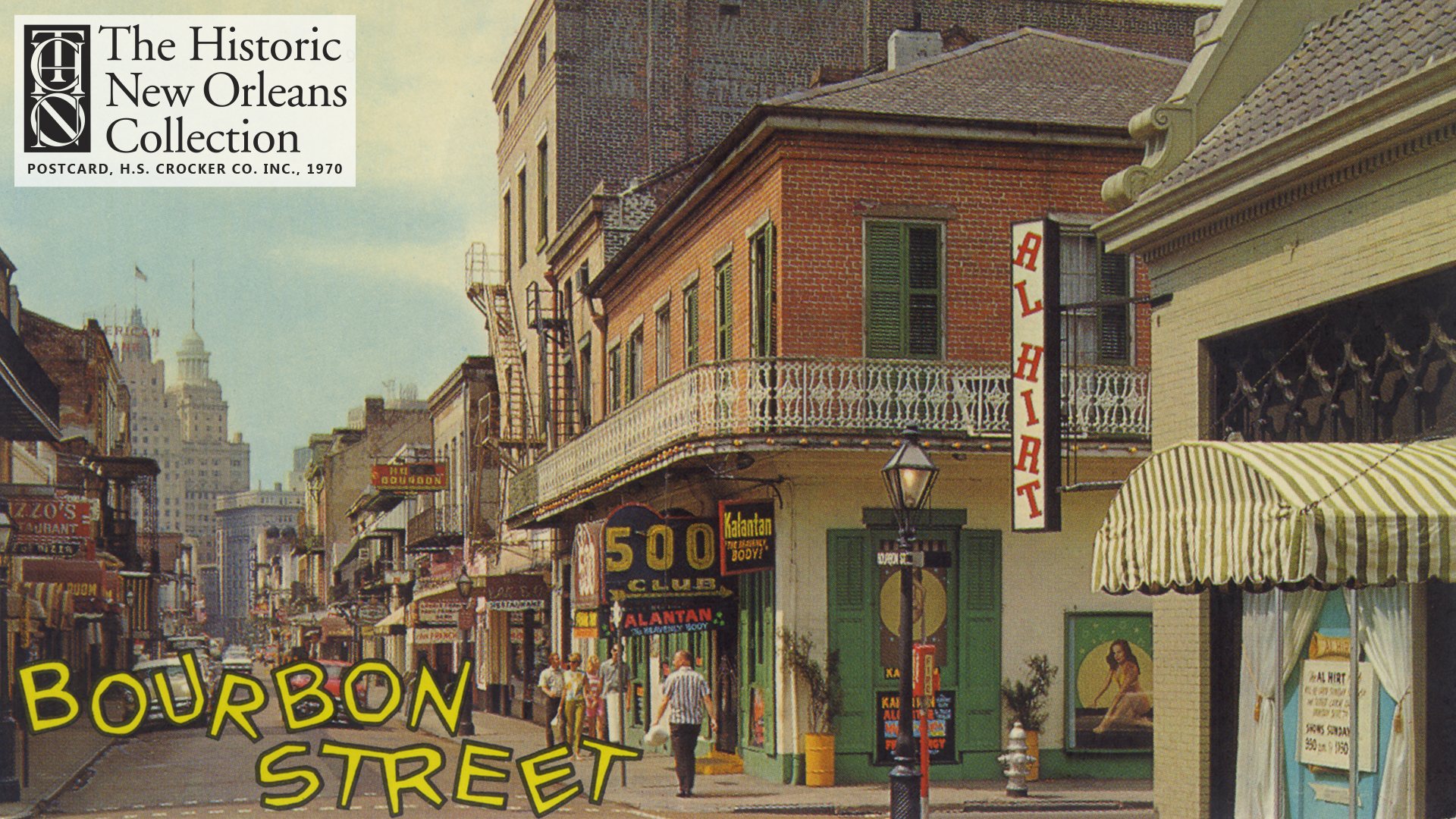 Bourbon Street showing the Al Hirt Club and 500