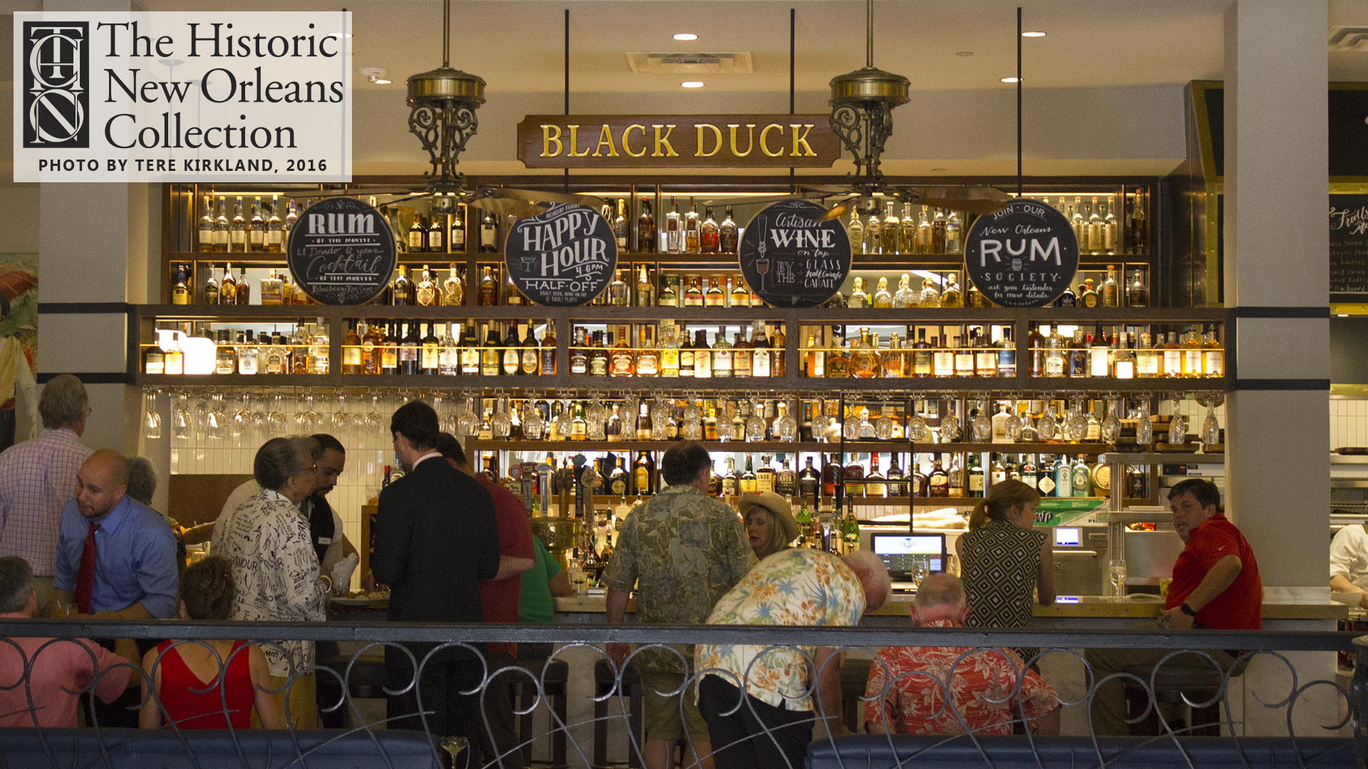 Rum Happy Hour at the Black Duck Bar, Palace Café