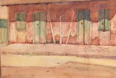 Watercolor painting by Ellsworth Woodward