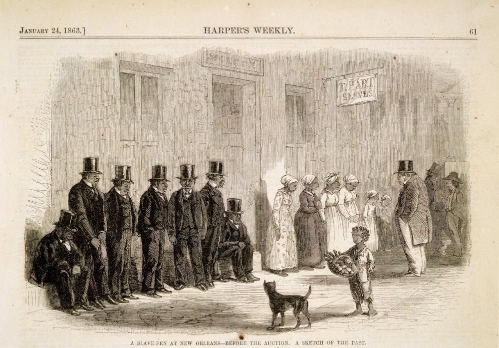 A Slave-Pen at New Orleans—before the Auction