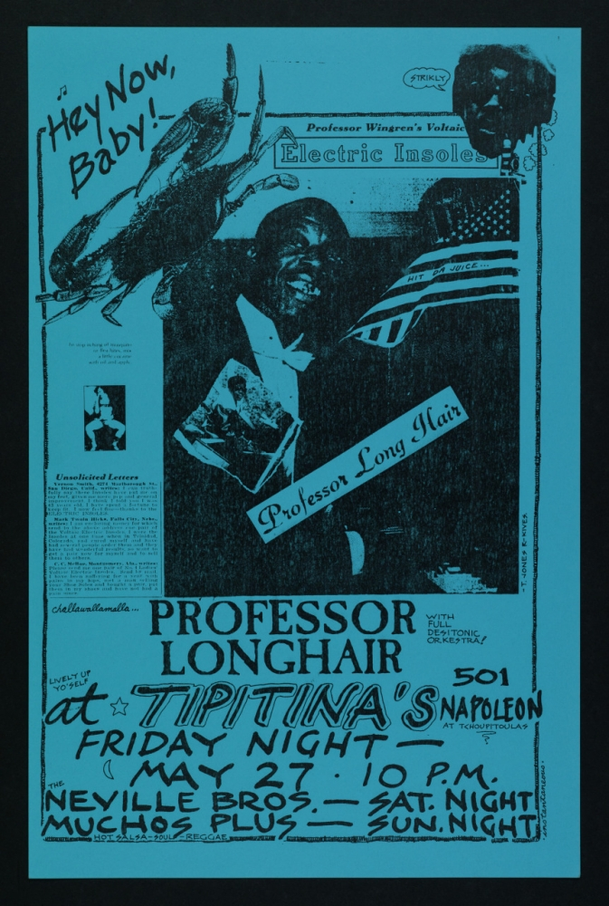 Poster for Professor Longhair performance at Tipitina's