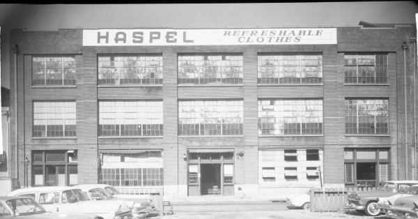 The headquarters of Haspel at 517–531 Toulouse Street.