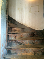 attic stairs of 722 Toulouse St. New Orleans, LA 70130