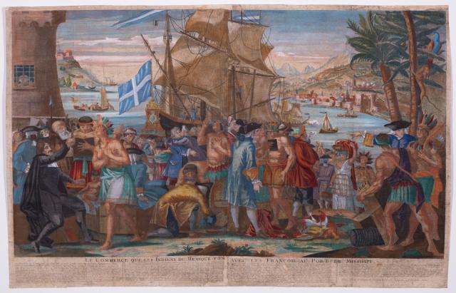 Le Commerce que les Indiens du Mexique Font avec les François au Port de Missisipi