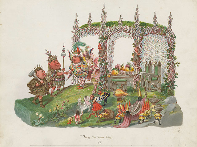Rapp, The Gnome King float design for Momus 1878; watercolor by Charles Briton Founders Collection, 1958.11.17