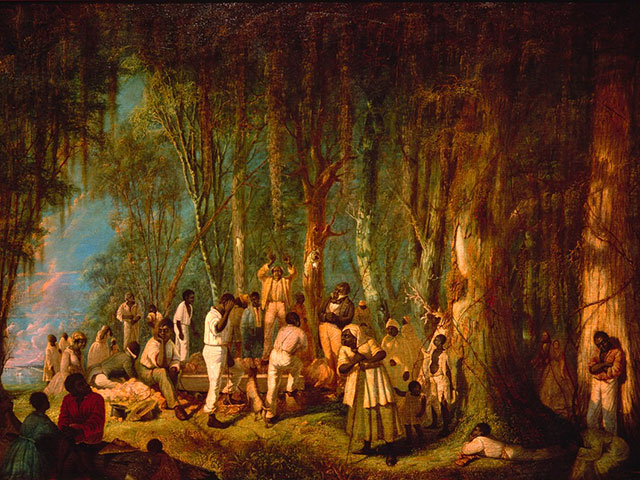 A Plantation Burial; 1860; oil on canvas by John Antrobus; The Historic New Orleans Collection, 1960.46