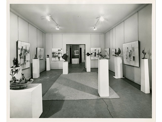 Bronzes by Lin Emery and paintings by John Franklin Clemmer between February 23 and March 7, 1964; photoprint by Stuart Moore Lynn 1993.36.13