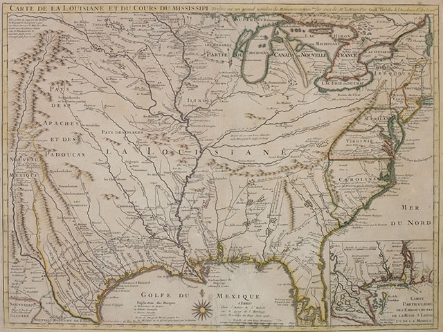 [Map of Louisiana and the course of the Mississippi]