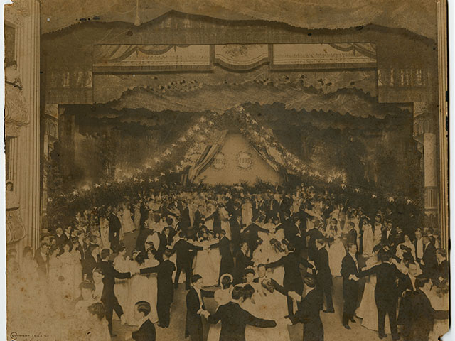 Louisiana Purchase Centennial Ball (detail); 1903; silver gelatin print by John N. Teunisson, photographer; THNOC, gift of George Schmidt in memory of Blance Ernestine Mouledoux, 2002.104