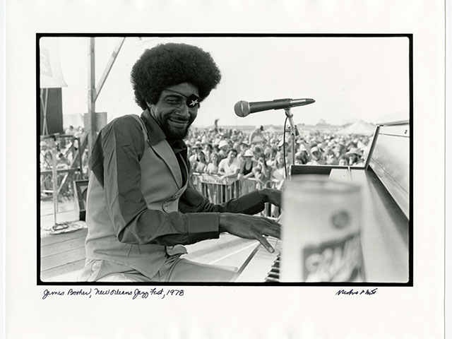 James Booker, New Orleans Jazz Fest; 1978; by Michael P. Smith, photographer; © The Historic New Orleans Collection, 2007.0103.2.244