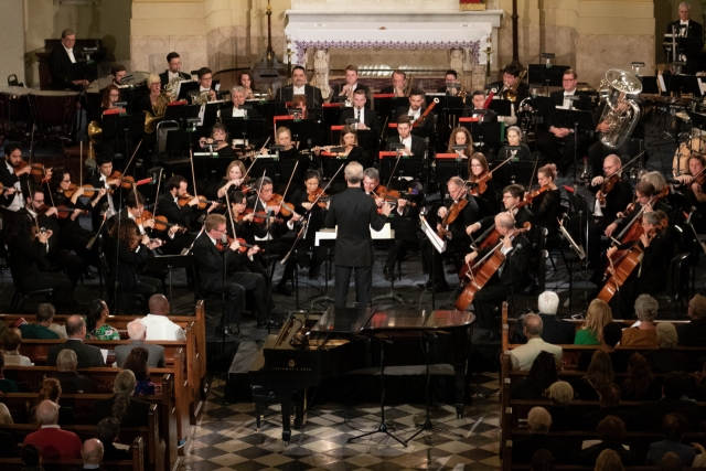 The Louisiana Philharmonic Orchestra performs at the annual THNOC/LPO concert