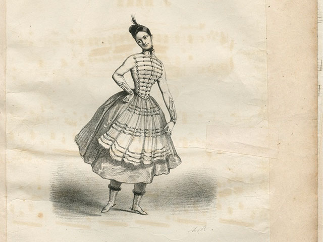 La cracovienne: du ballet la gipsy; 1840s; Robert Nicholas Charles Bochsa, composer; Jacques Herz, arranger; Fanny Elssler, performance artist; The Historic New Orleans Collection, 93-196-RL.9