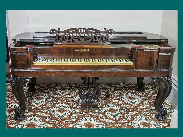 Piano; Knabe, Gaehle & Company; Baltimore; 1840–1860; CIS-2013-1122