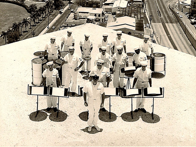 U.S. Navy Steel Band on top of the San Juan, Puerto Rico Hilton; photograph courtesy of Andrew R. Martin