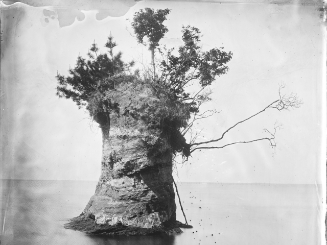 Island on Lake Shinji; 2019; collotype print from wet-collodion glass negative; © Everett Kennedy Brown