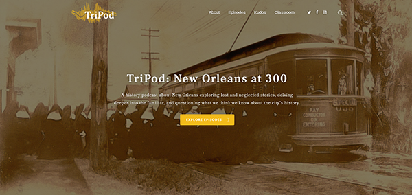 Tripod New Orleans at 300 website homepage
