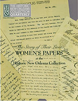 The Story of Their Lives: Women's Papers at The Historic New Orleans Collection