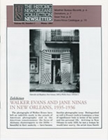 Exhibition: Walker Evans and Jane Ninas in New Orleans, 1935-1936
