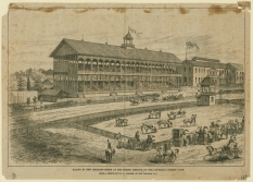 Racing in New Orleans—Scene at the Spring Meeting of the Louisiana Jockey Club; April 24, 1874; illustration by Philip G. Cusachs, delineator; THNOC, 1974.25.2.208