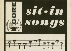 A pamphlet produced by the Congress of Racial Equality contains songs for sit-in protests.