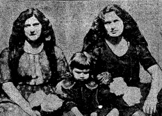 Leonide Moity (right) is shown with her sister