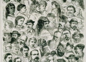 Sketches of character in New Orleans (detail); July 1, 1871; illustration by Alfred R. Waud; The Historic New Orleans Collection, gift of Harold Schilke and Boyd Cruise, 1953.87
