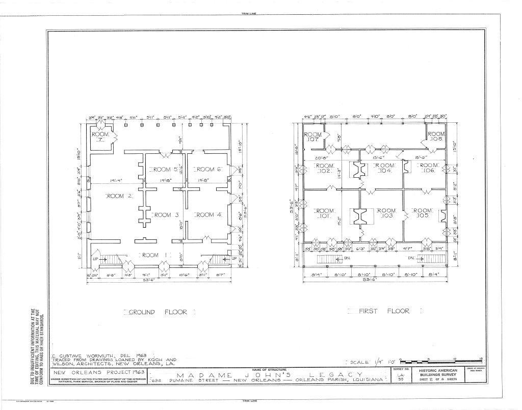 The Collins C Diboll Vieux Carre Survey Property Info