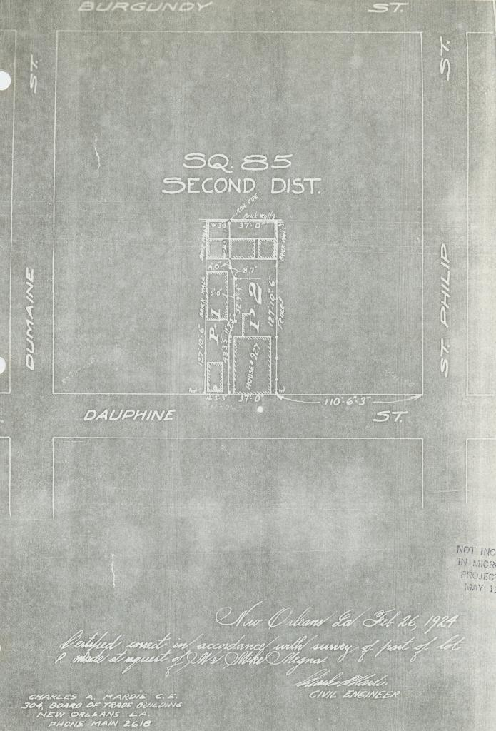 The Collins C Diboll Vieux Carr 233 Survey A Project Of