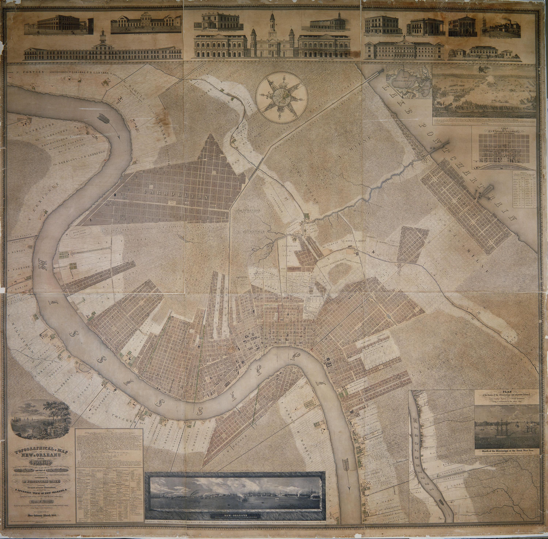 The Collins C Diboll Vieux Carre Survey Maps Page