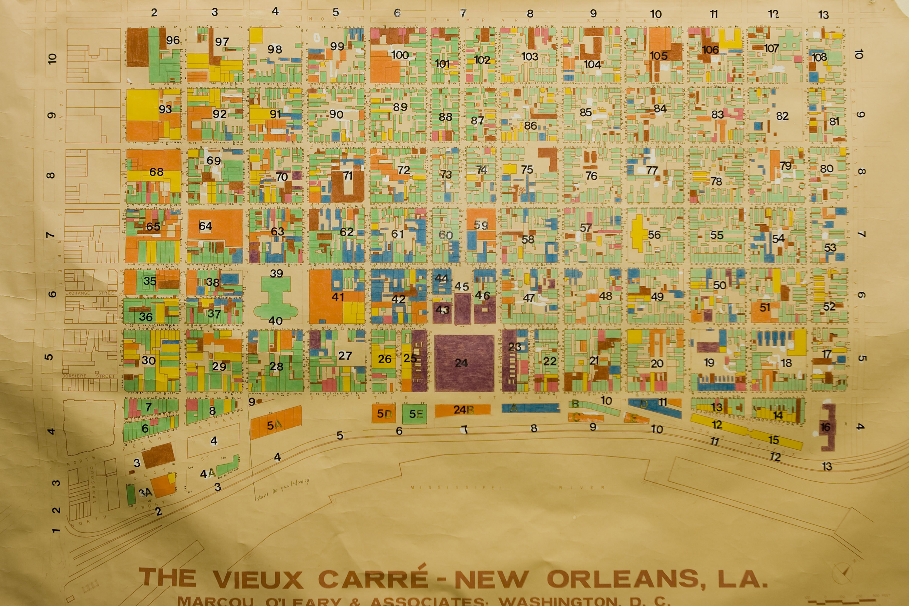 The collins c diboll vieux carr survey maps page creator marcou oleary associates washington dc courtesy of vieux carr commission publication may be restricted gumiabroncs Gallery
